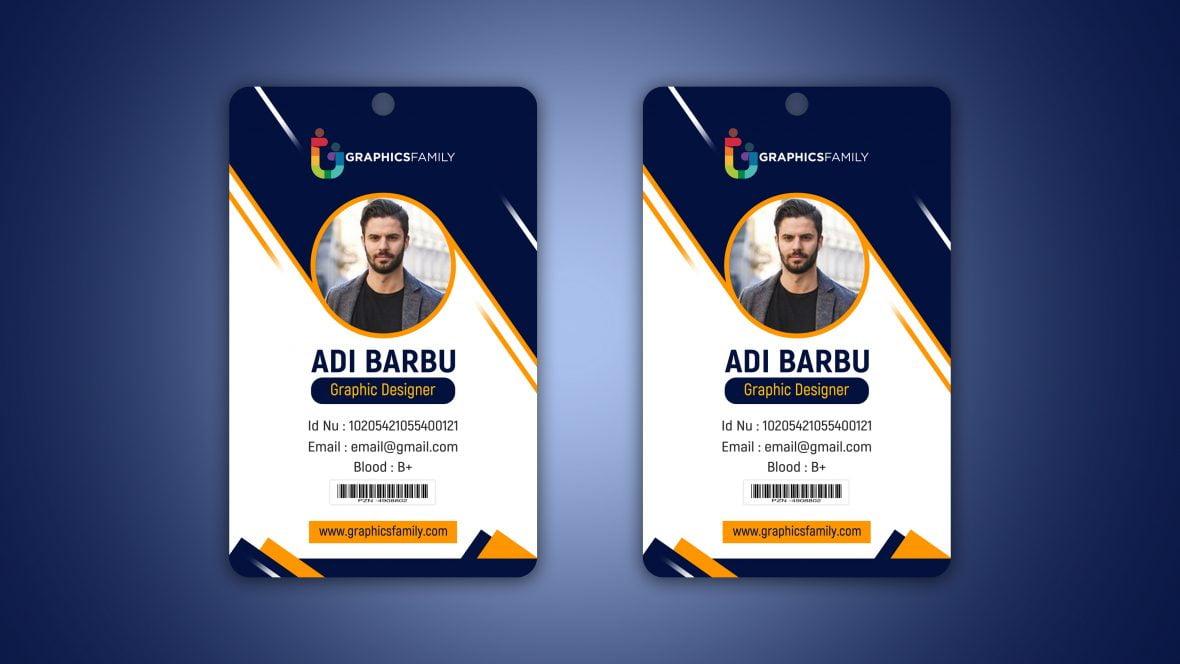 Professional Employee Photo ID Card