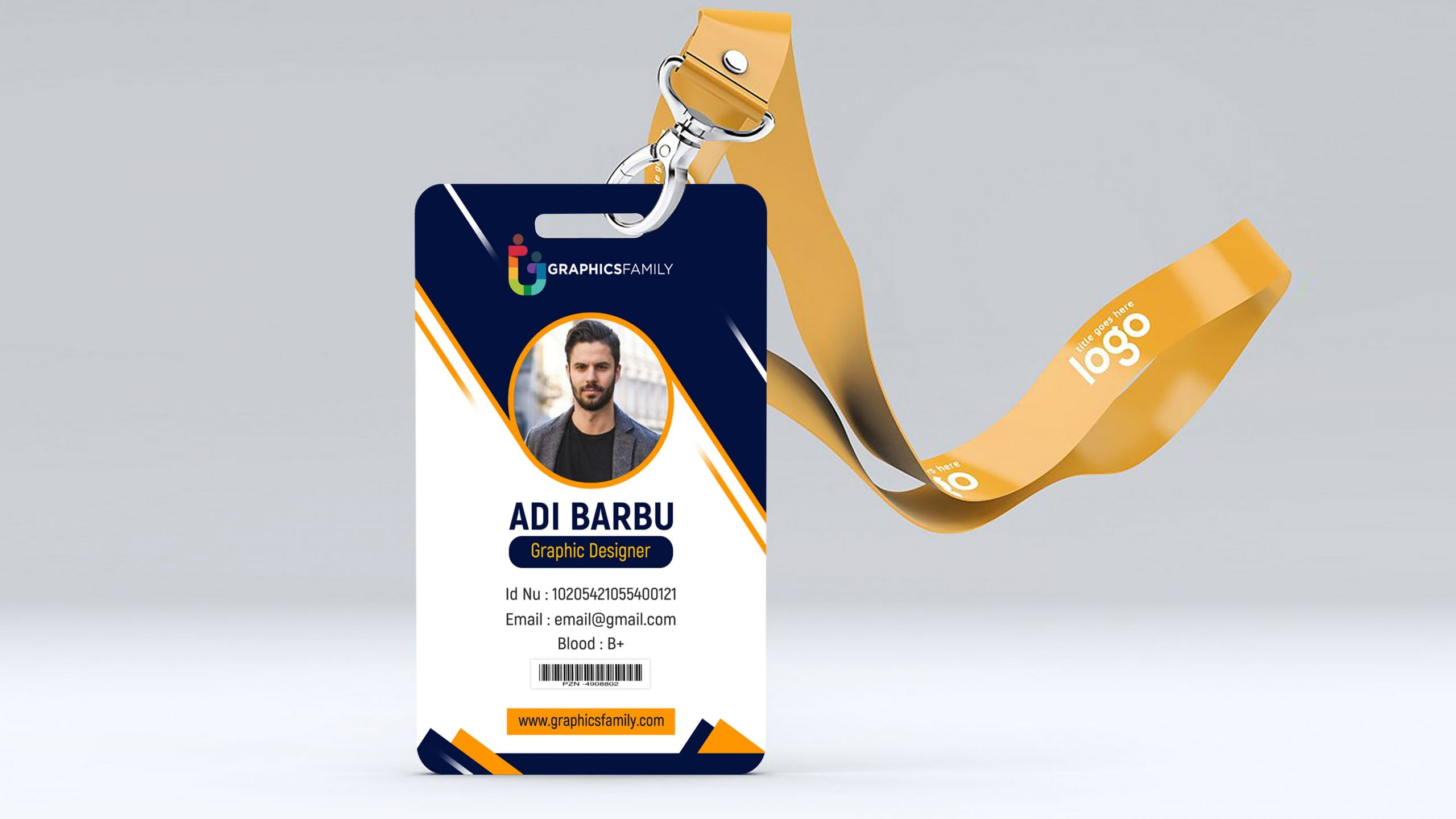 Professional Employee Photo ID Card by GraphicsFamily