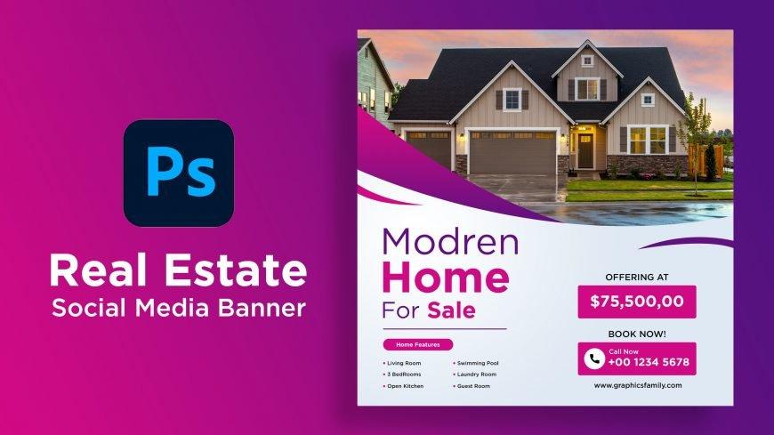 Real Estate Company Social Media Graphic Design