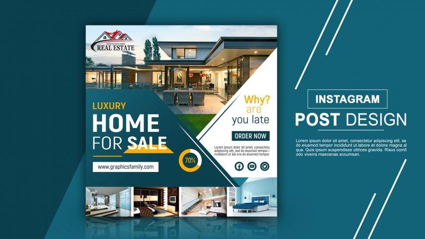 Real Estate Editable Instagram Design Template