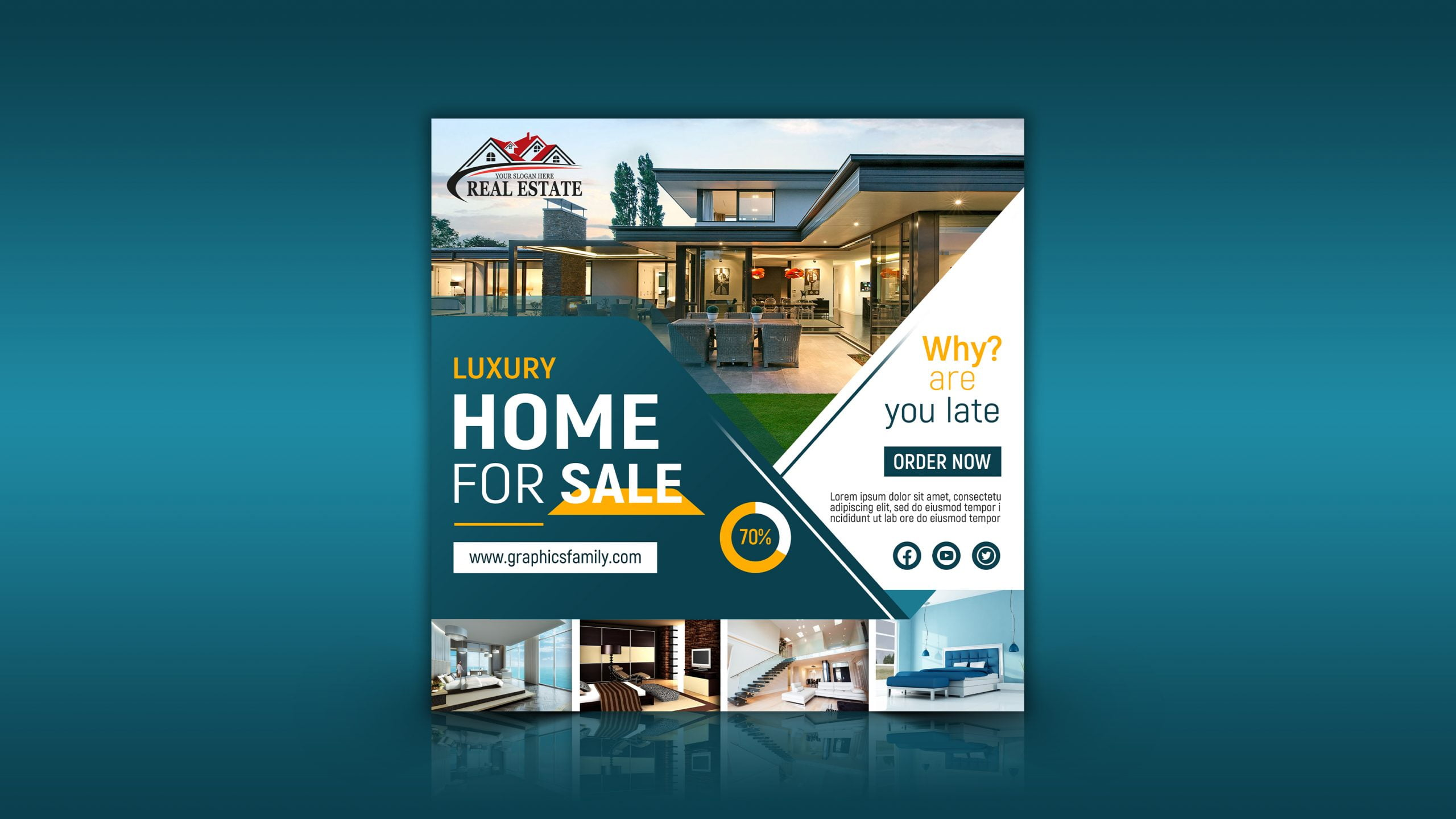 Real Estate Editable Instagram Design Template Download