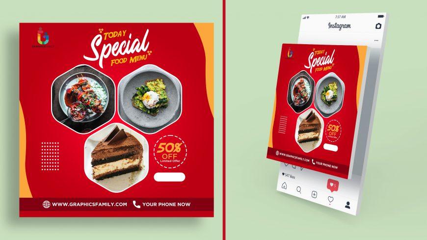 Restaurant Instagram Post Design