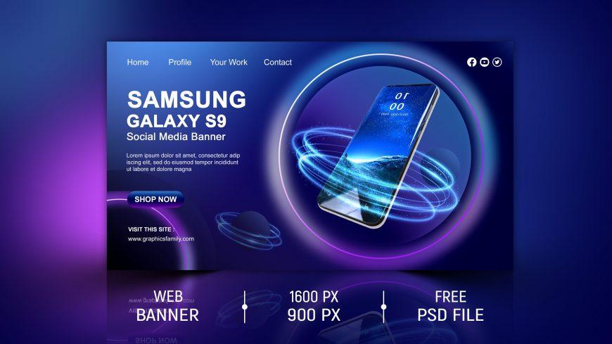 Samsung Galaxy Social Media Banner Design