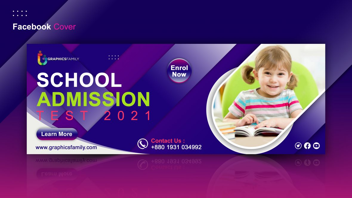 School and Education Facebook Cover Template