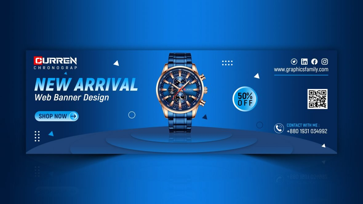Shop Products Social Media Banner Design Template