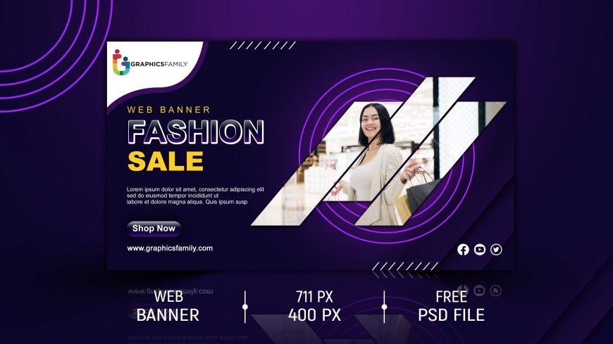 Social Media Fashion Sale Banner Design Template
