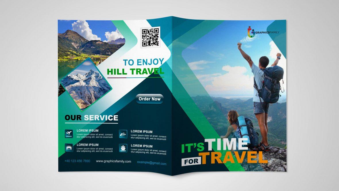 Travel Time Bifold Brochure Design