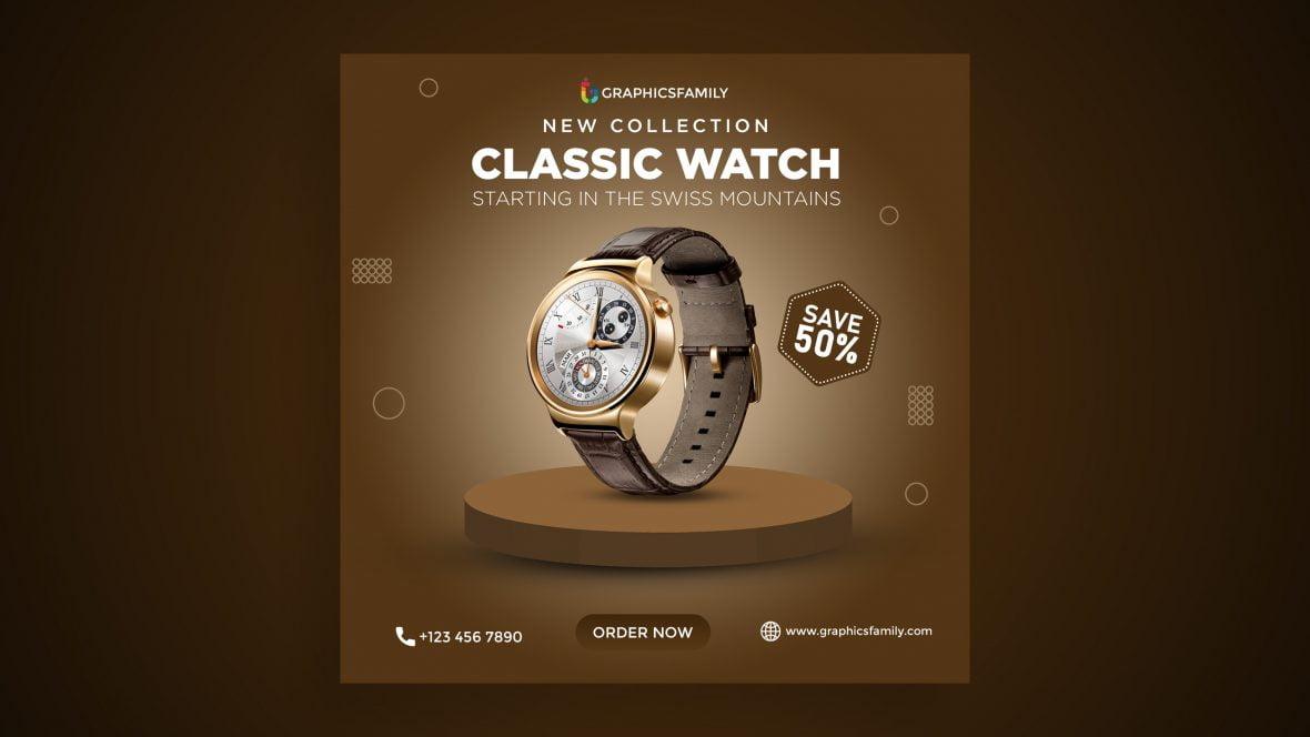 Watch Sale Social Media Advertising Post Design
