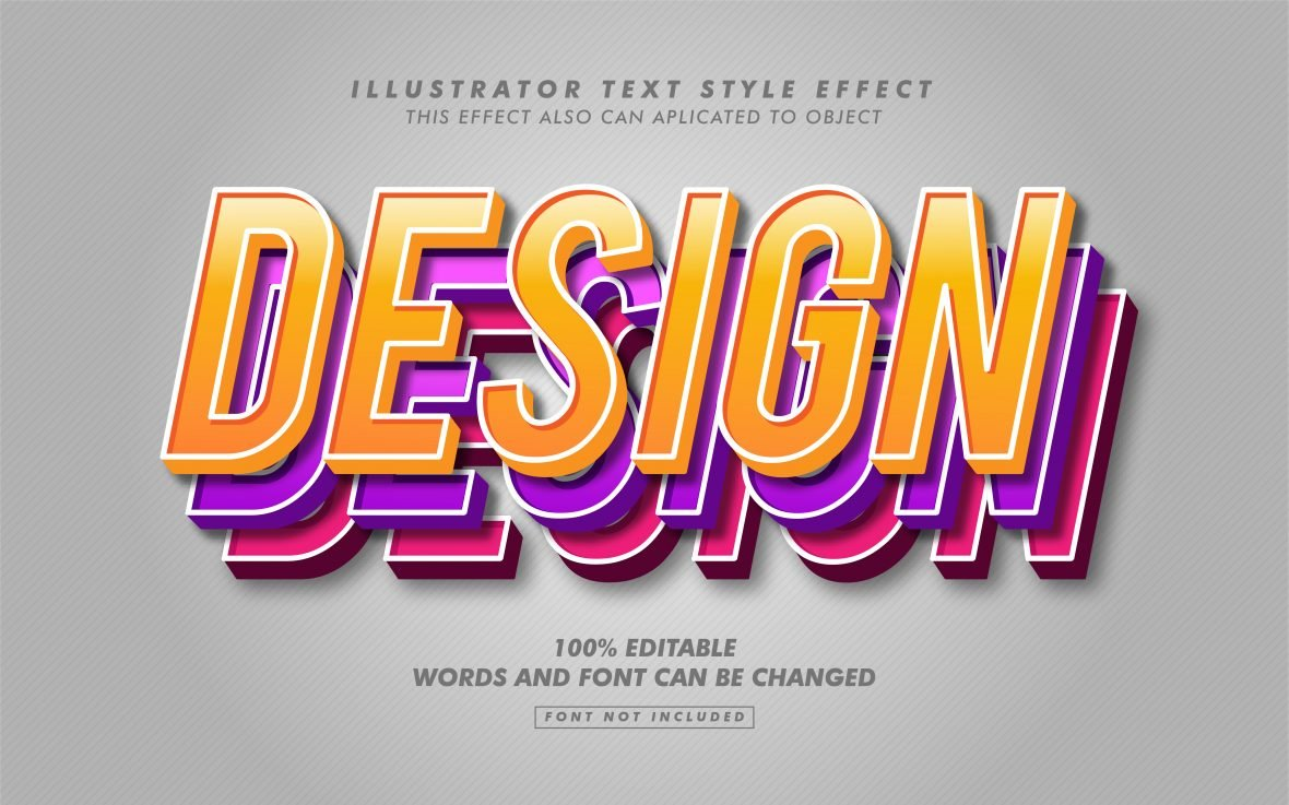 3D Three Layer Text Effect