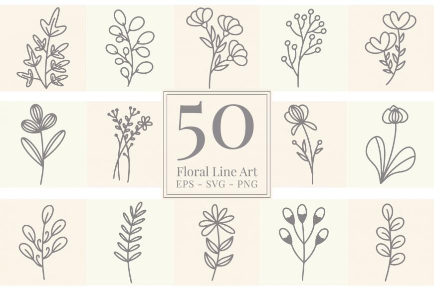 50 Free Floral Vectors
