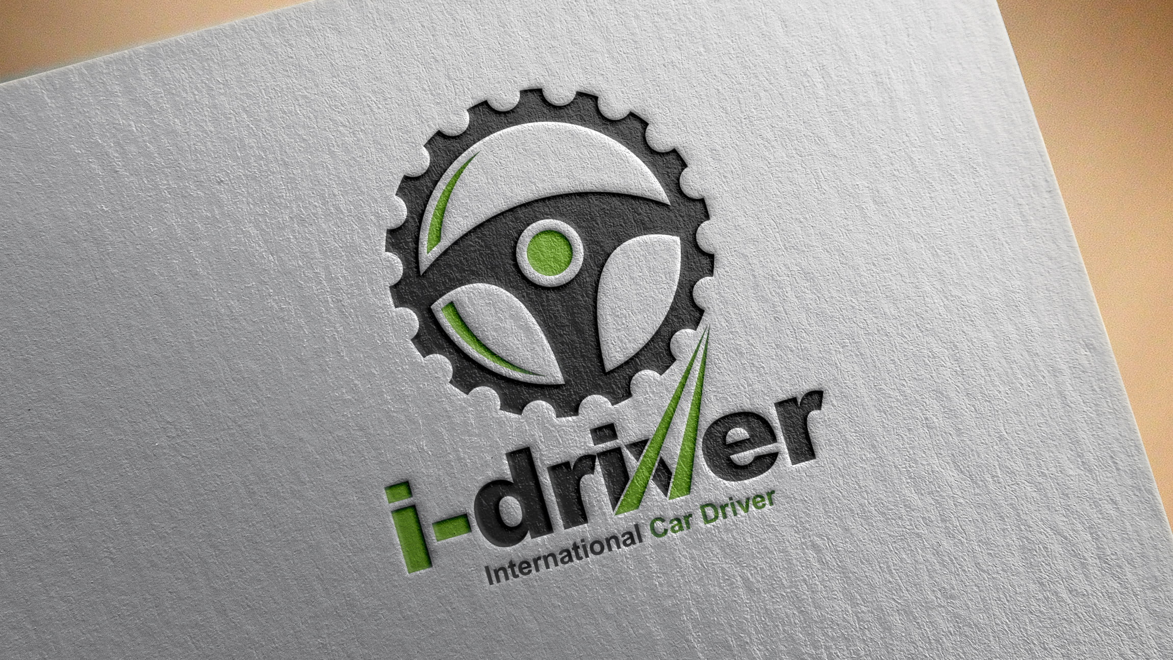 Car Driver Logo Design PSD Source