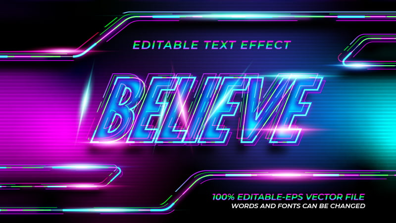 Colorful Modern Text Effect
