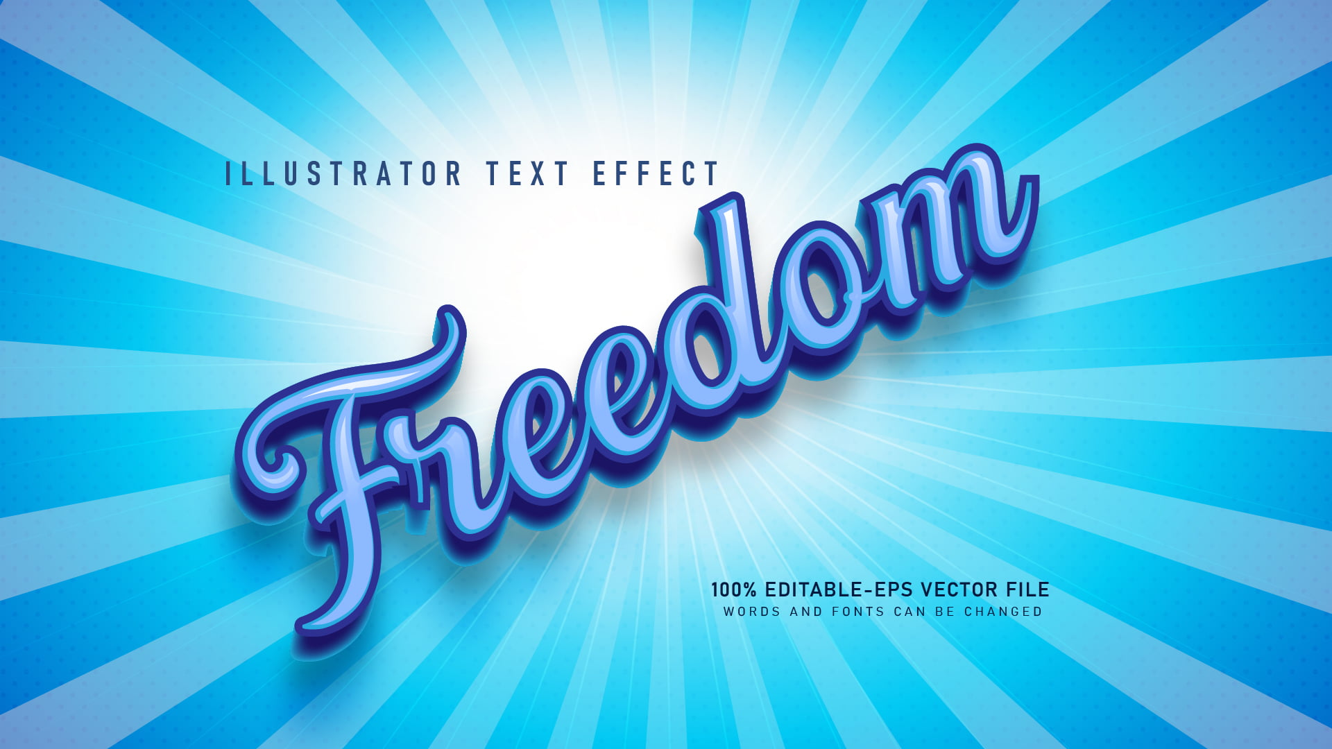 Cool Blue Text Effect