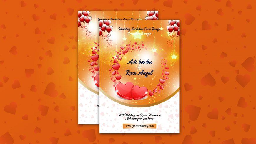 Creative Wedding Card PSD Template