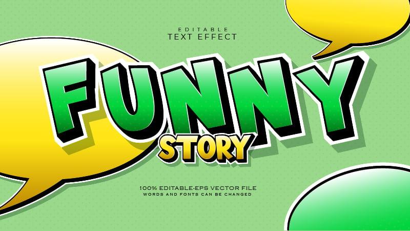 Cute Comic Green Text Effect