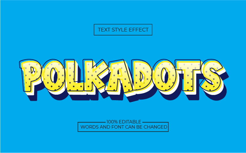 Cute Polka Dot Text Effect