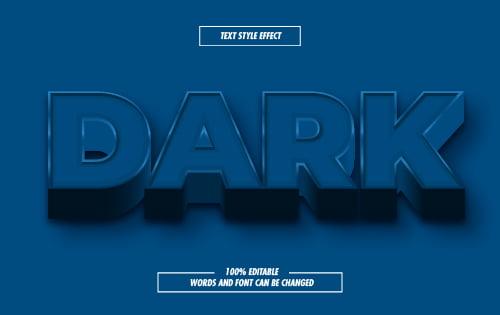 Dark Blue Text Effect