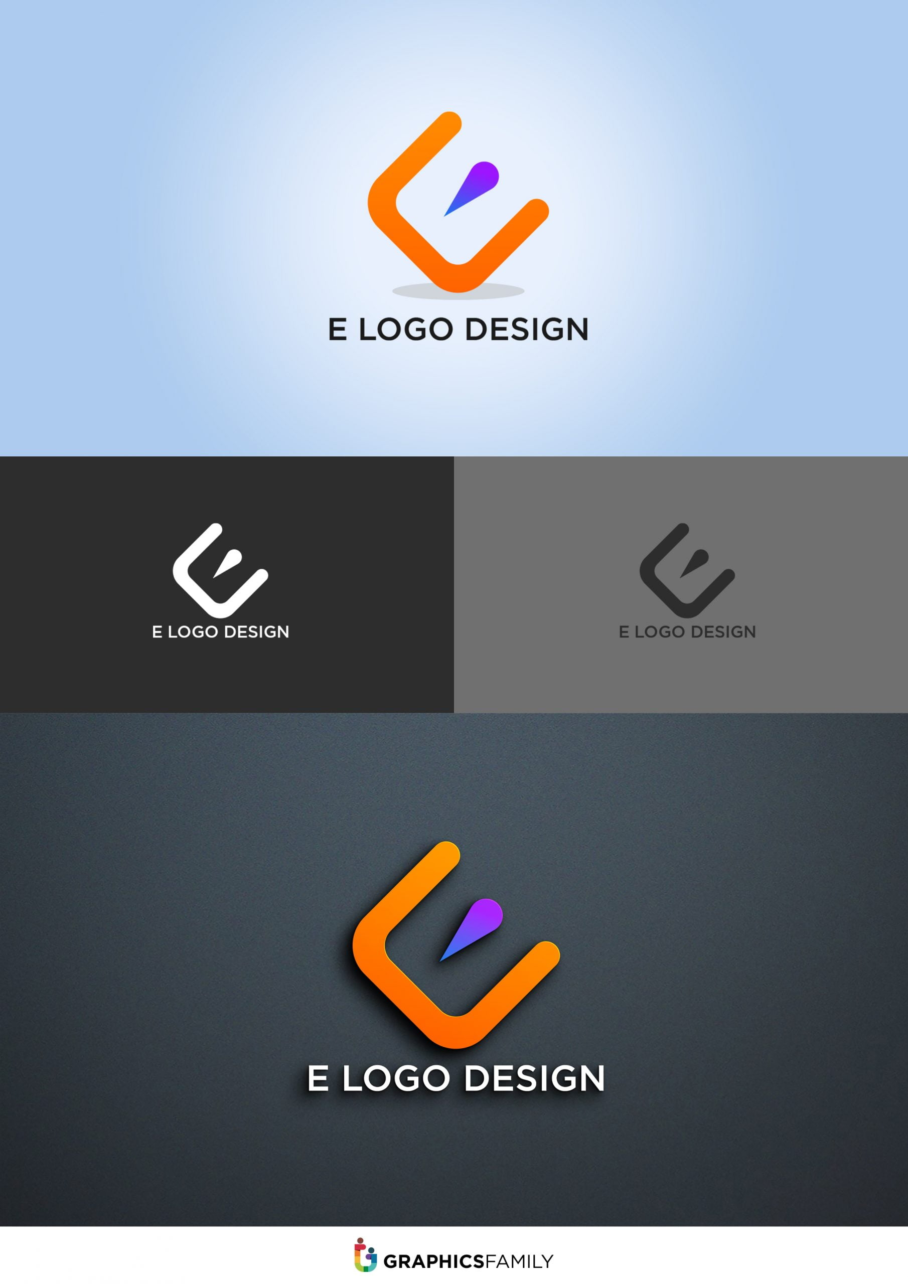 E Logo Design Download