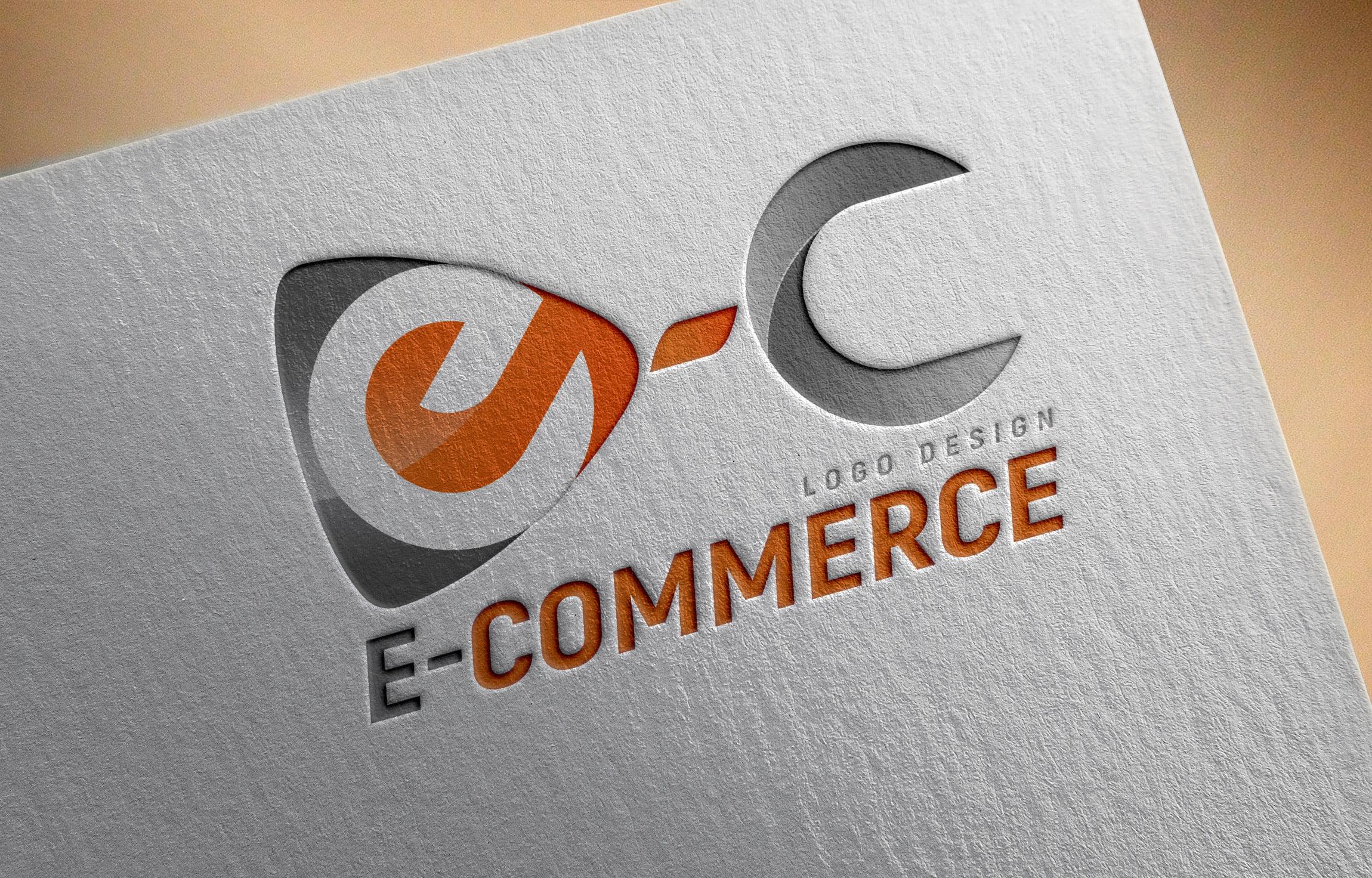 E-commerce Logo Design PSD Template