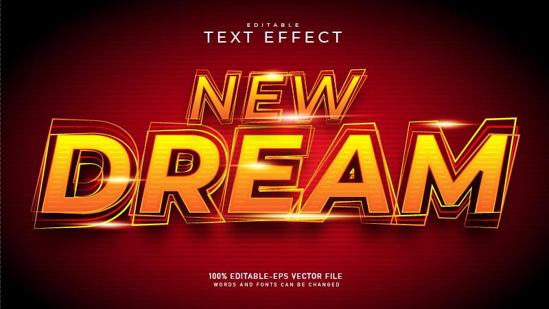 Elegant Glowing Yellow Text Effect