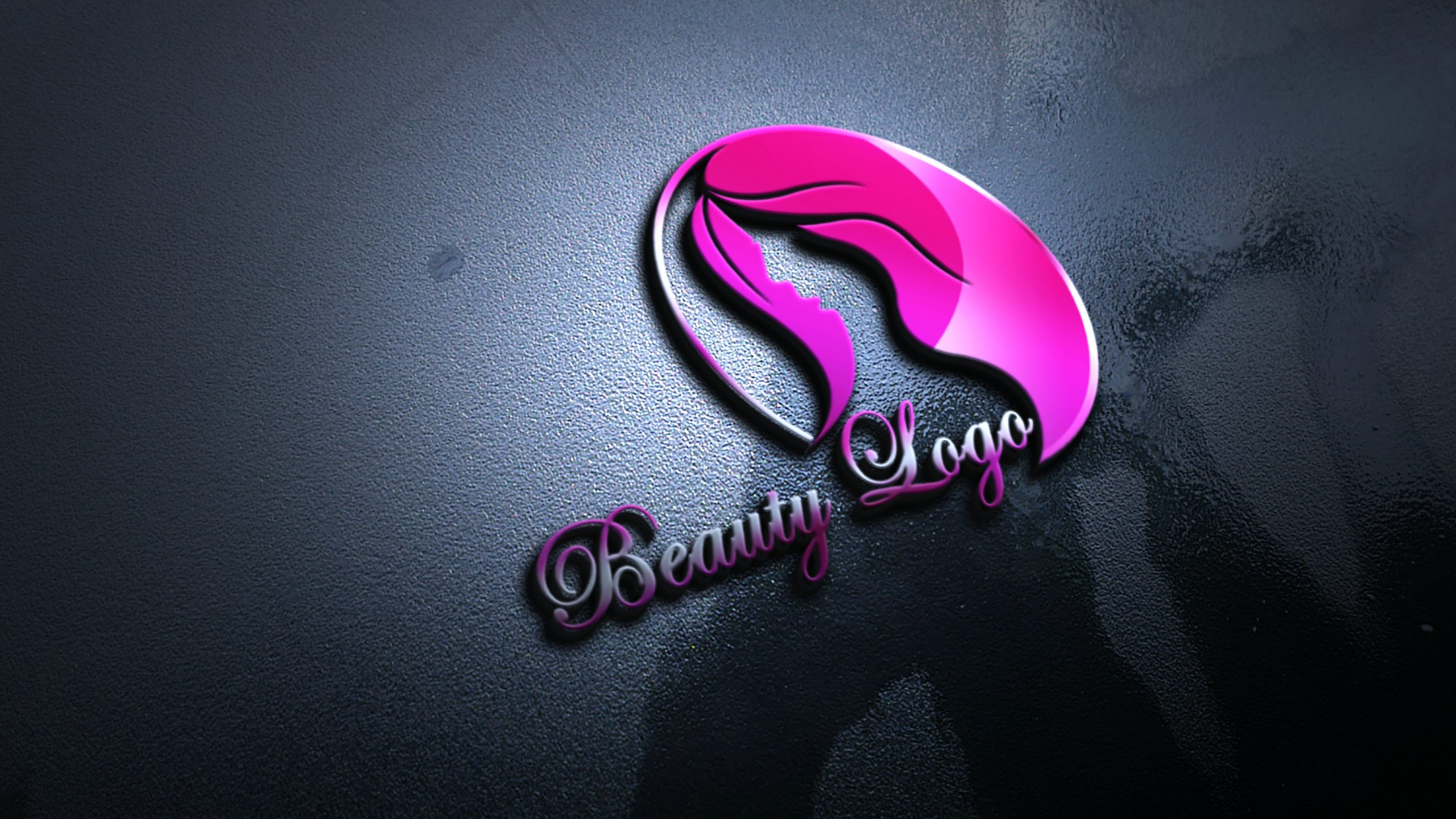 Free .PSD Beauty Logo Design Template