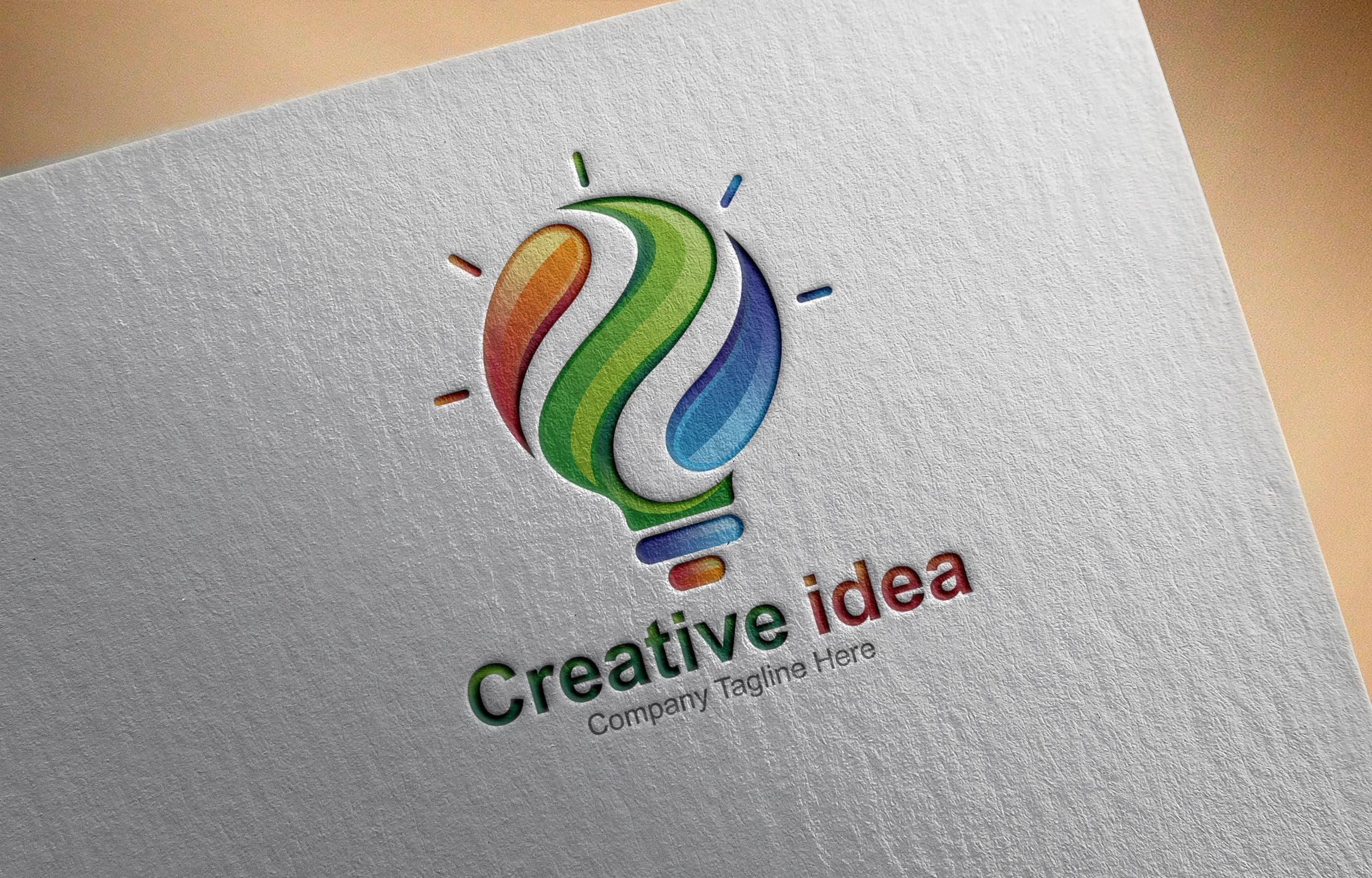 Free .PSD Creative Idea Logo Design