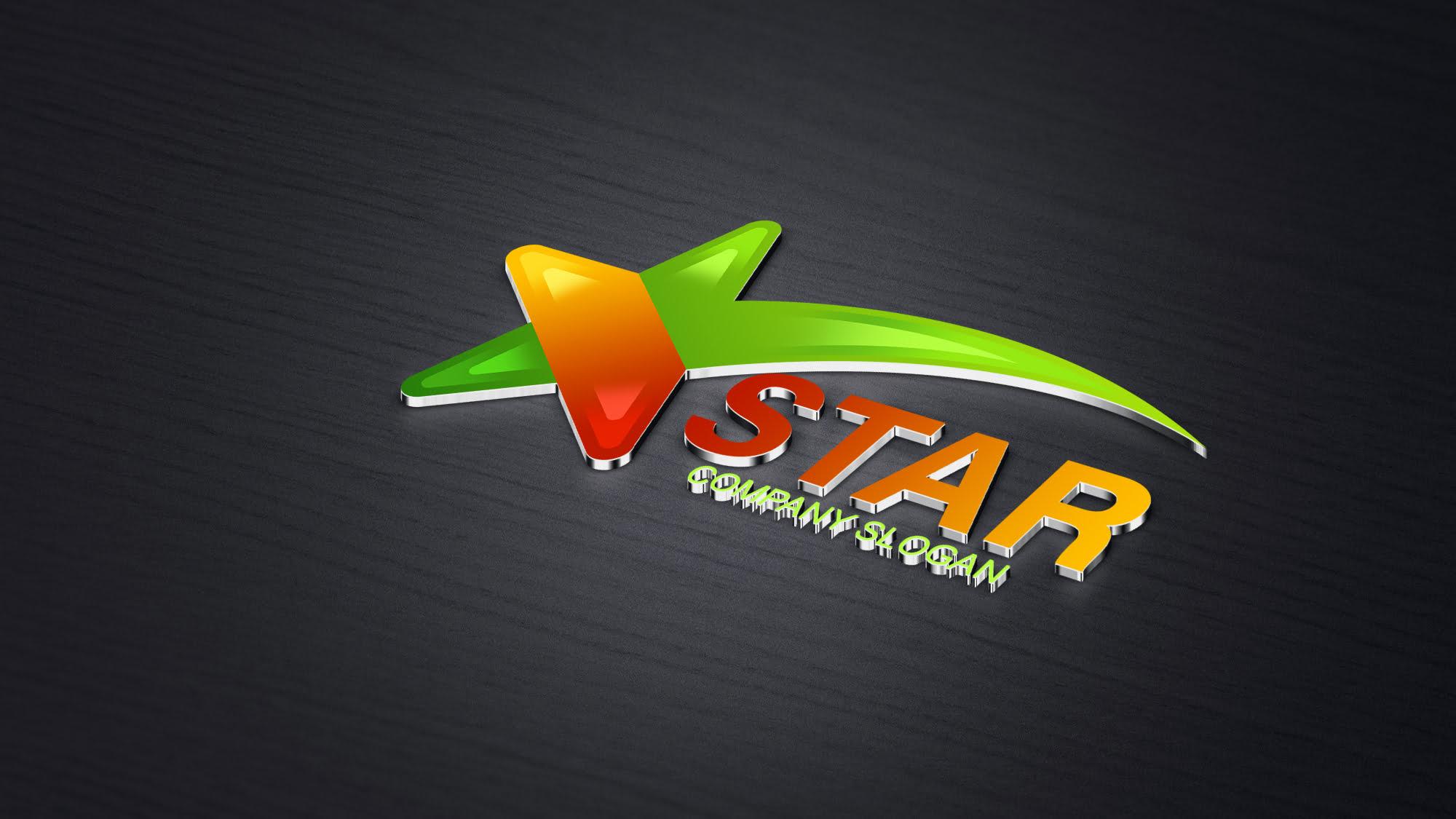 Free .PSD Star Logo Design