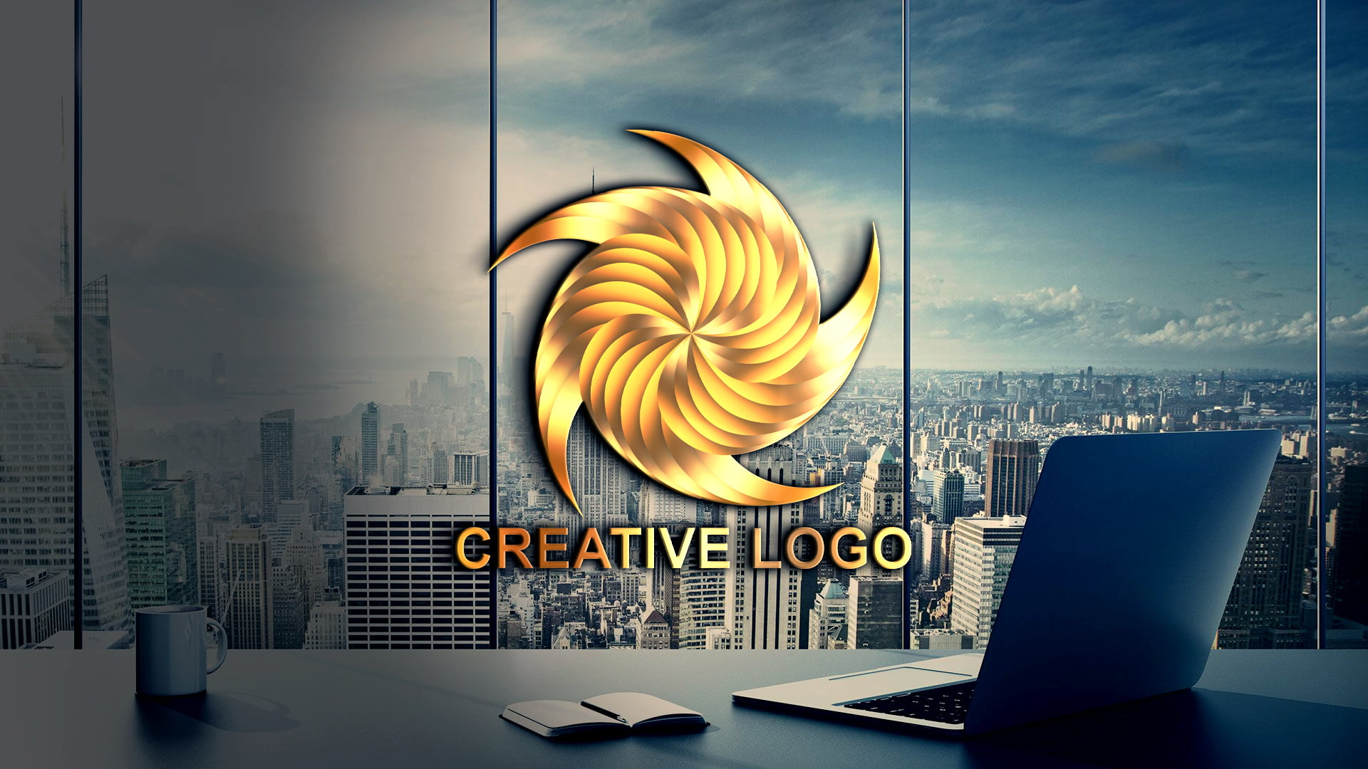 Free Creative Abstract Logo Design PSD source