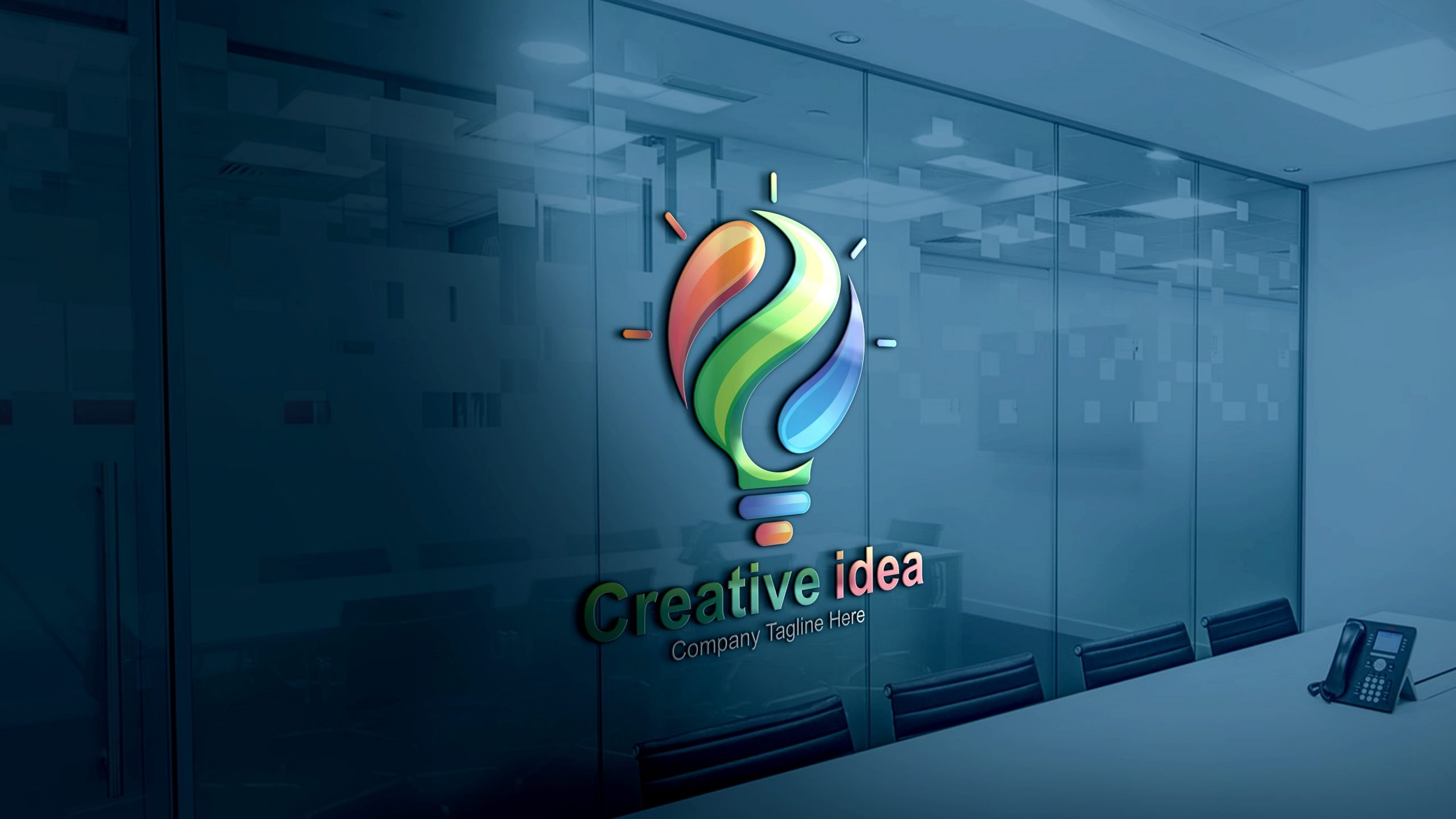 Free Creative Idea Logo Design