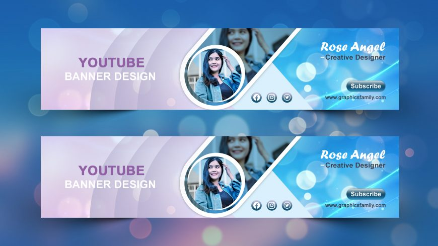 Free Creative YouTube Banner Template