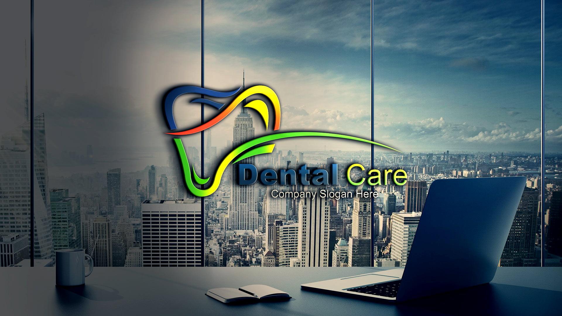 Free Download Dental Logo Design, Dentist Logo Template