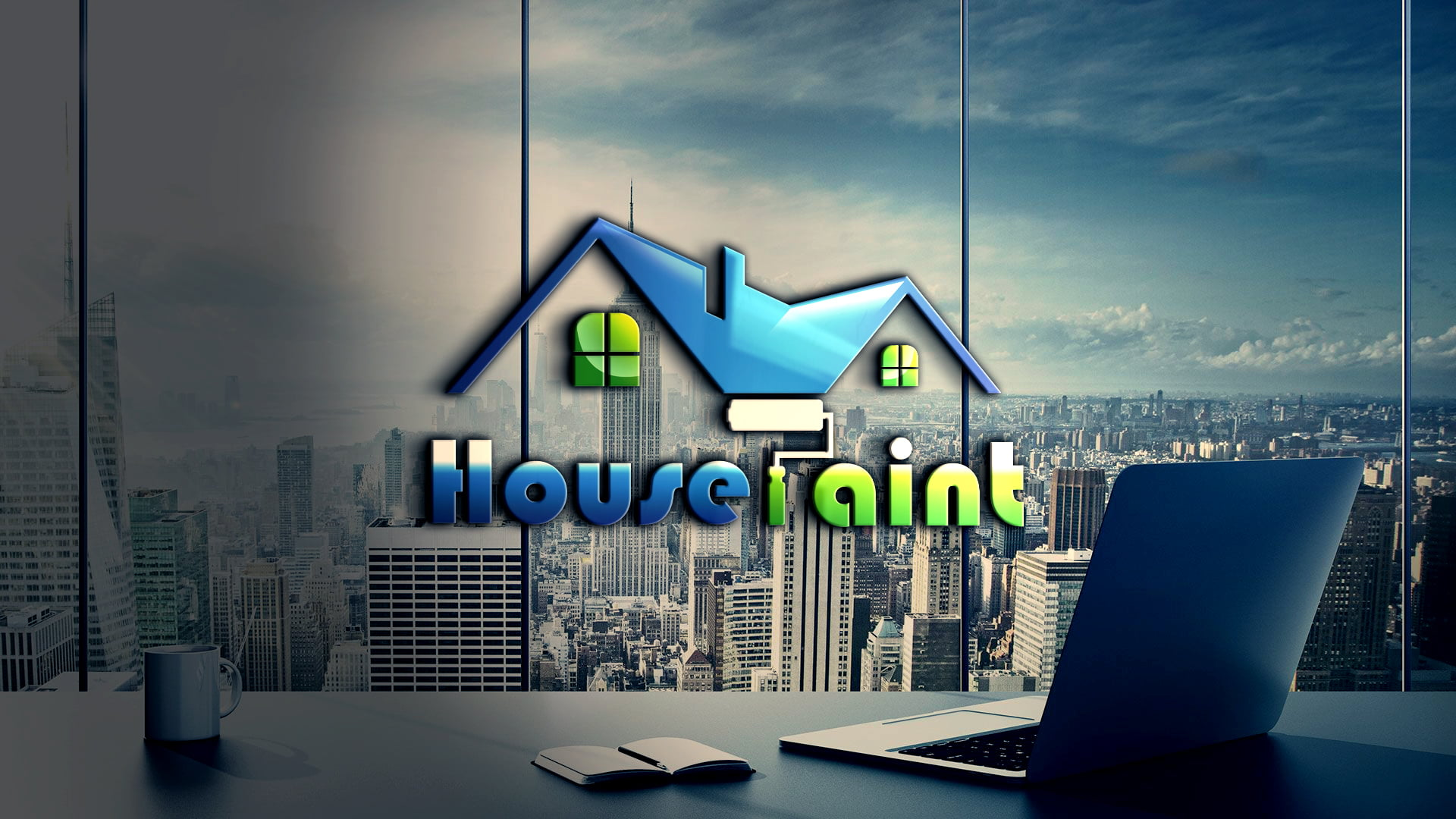 Free Download House Painting Logo Vector