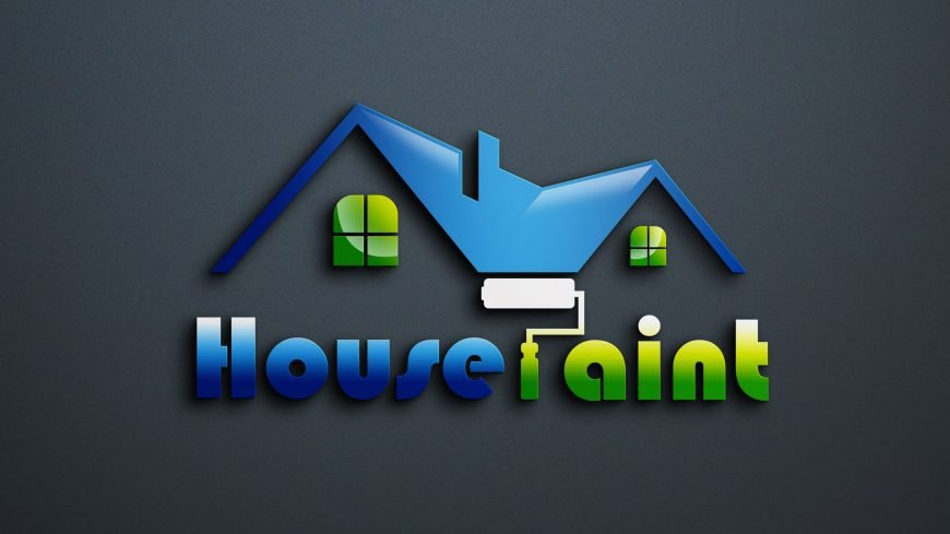 Free House Painting Logo Vector Design