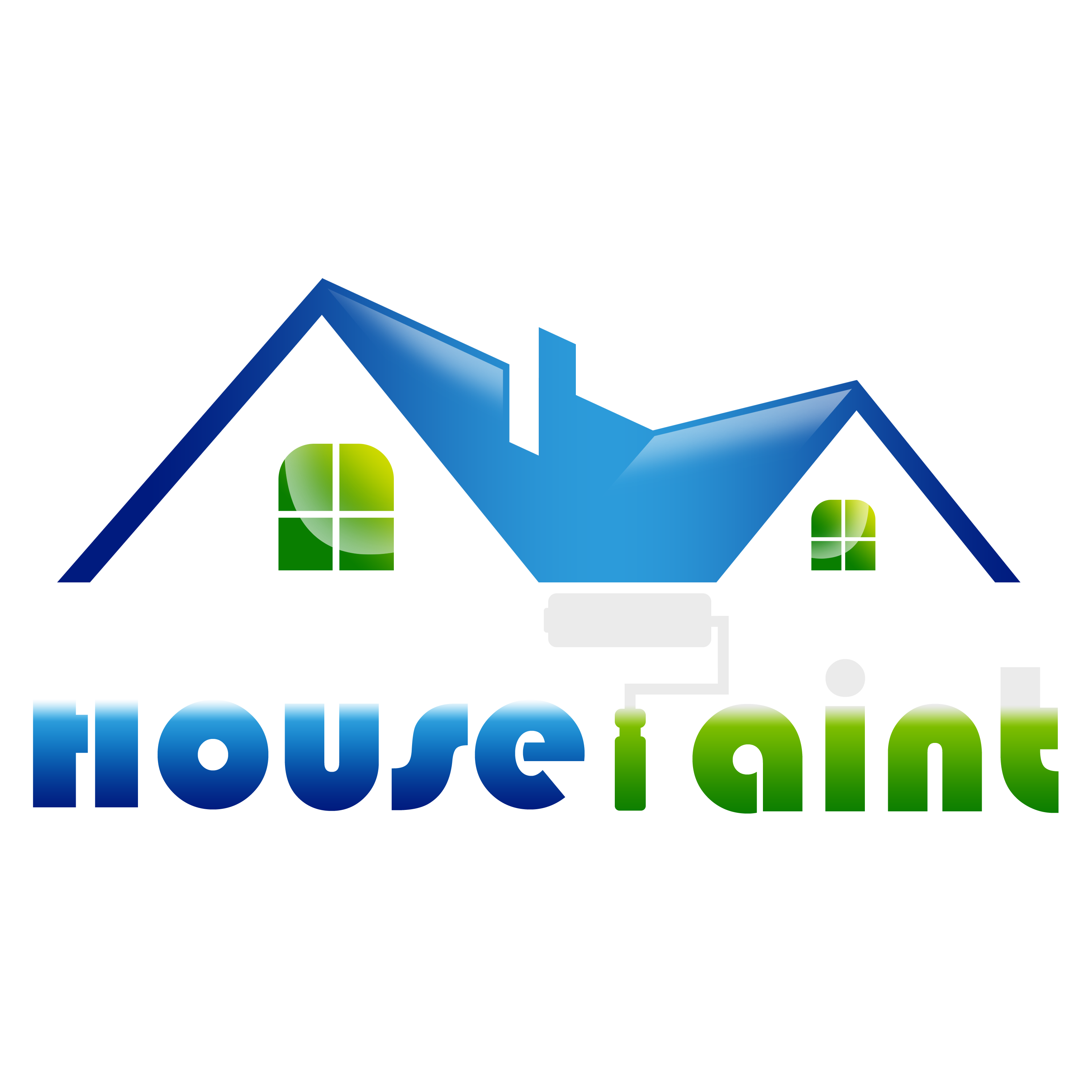 Free House Painting Logo Vector PNG Transparent