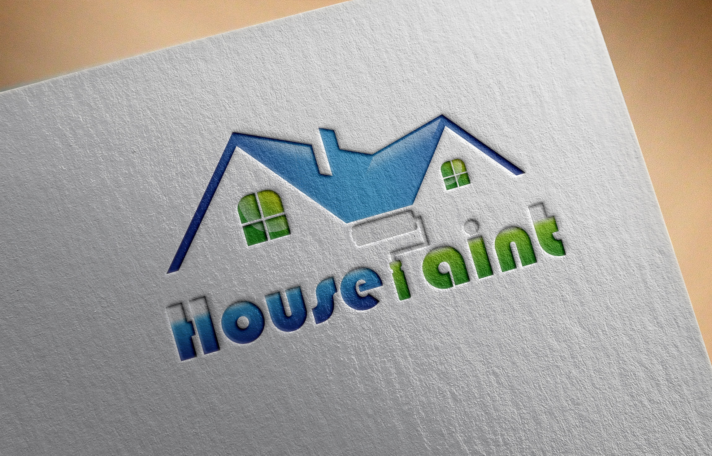 Free House Painting Logo Vector Template Download
