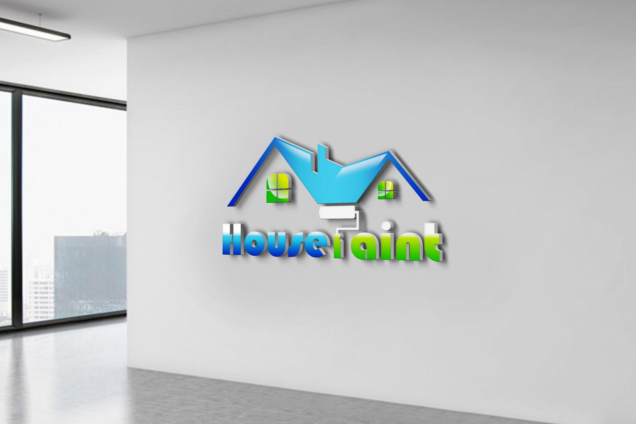 Free House Painting Logo Vector Template