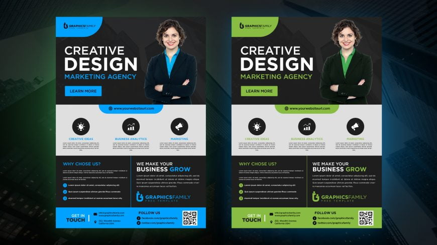 Free Marketing Agency Banner Design