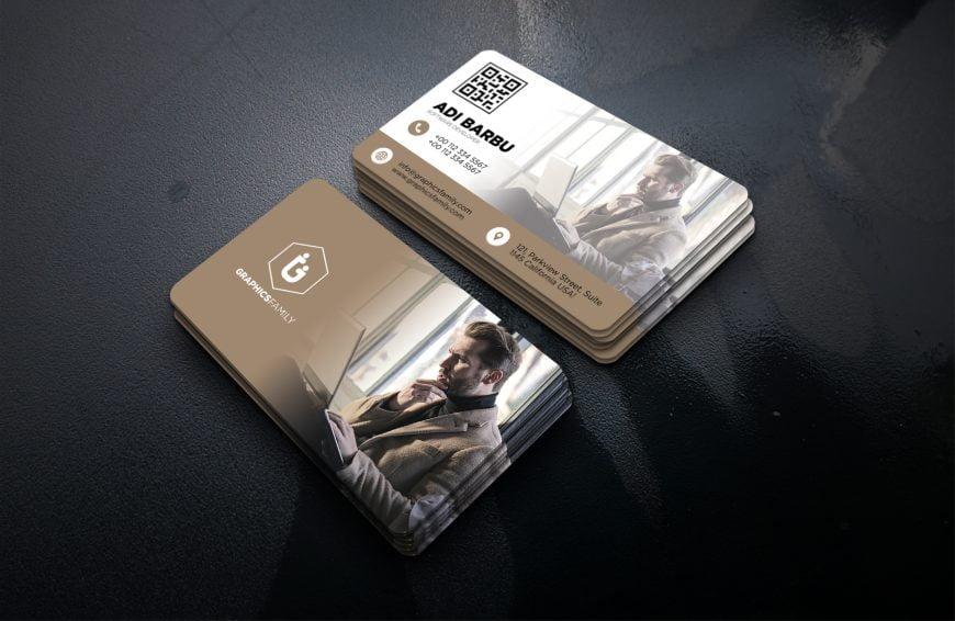 Free Software Developer Business Card Design