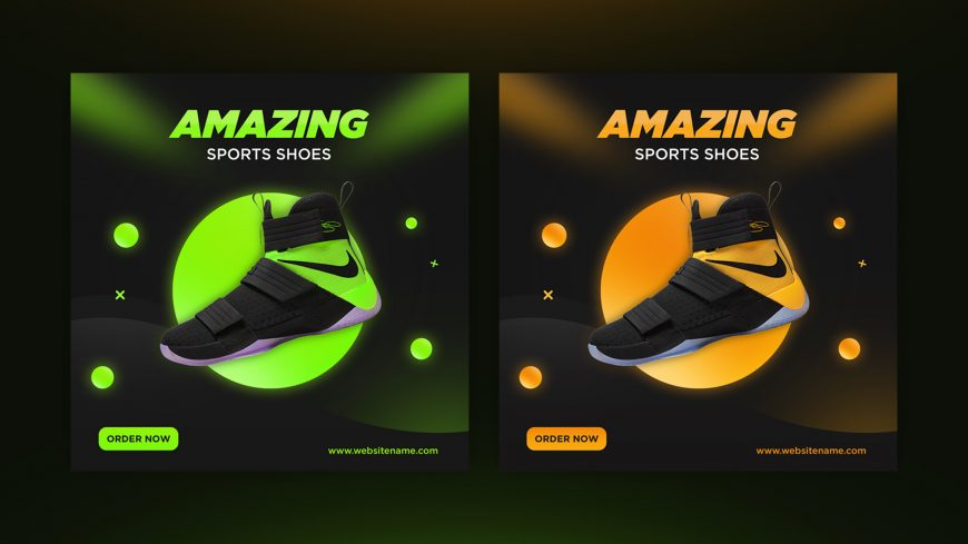 Free Sport Shoes Banner Template