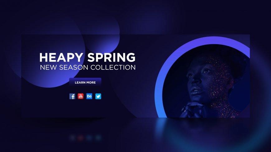 Free Spring Sale Dark Banner Design