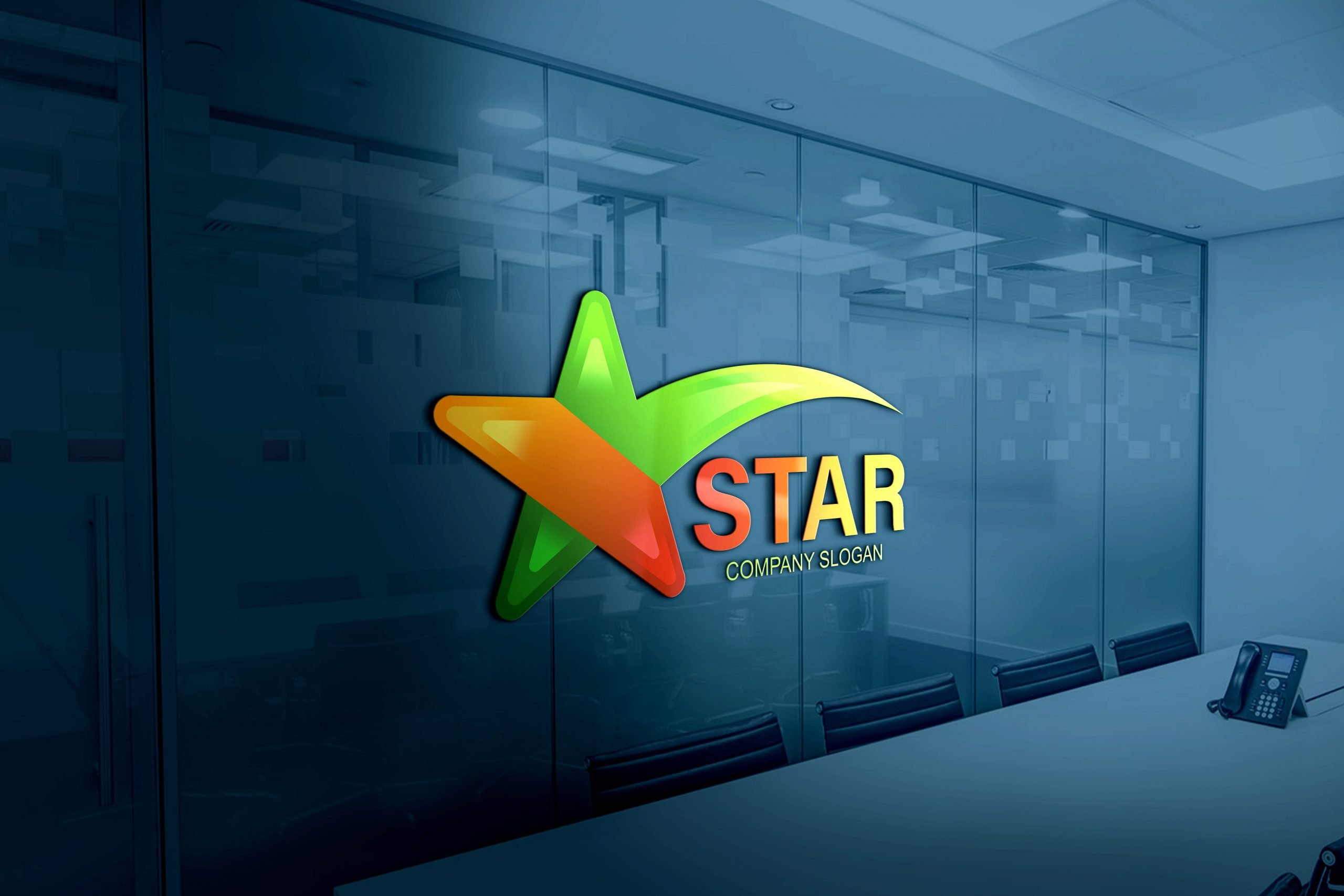 Free Star Logo Design Template
