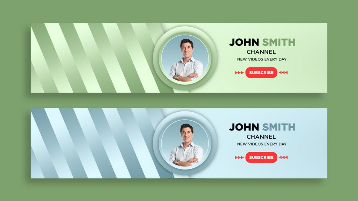 Free Vlogger YouTube Cover Template Design