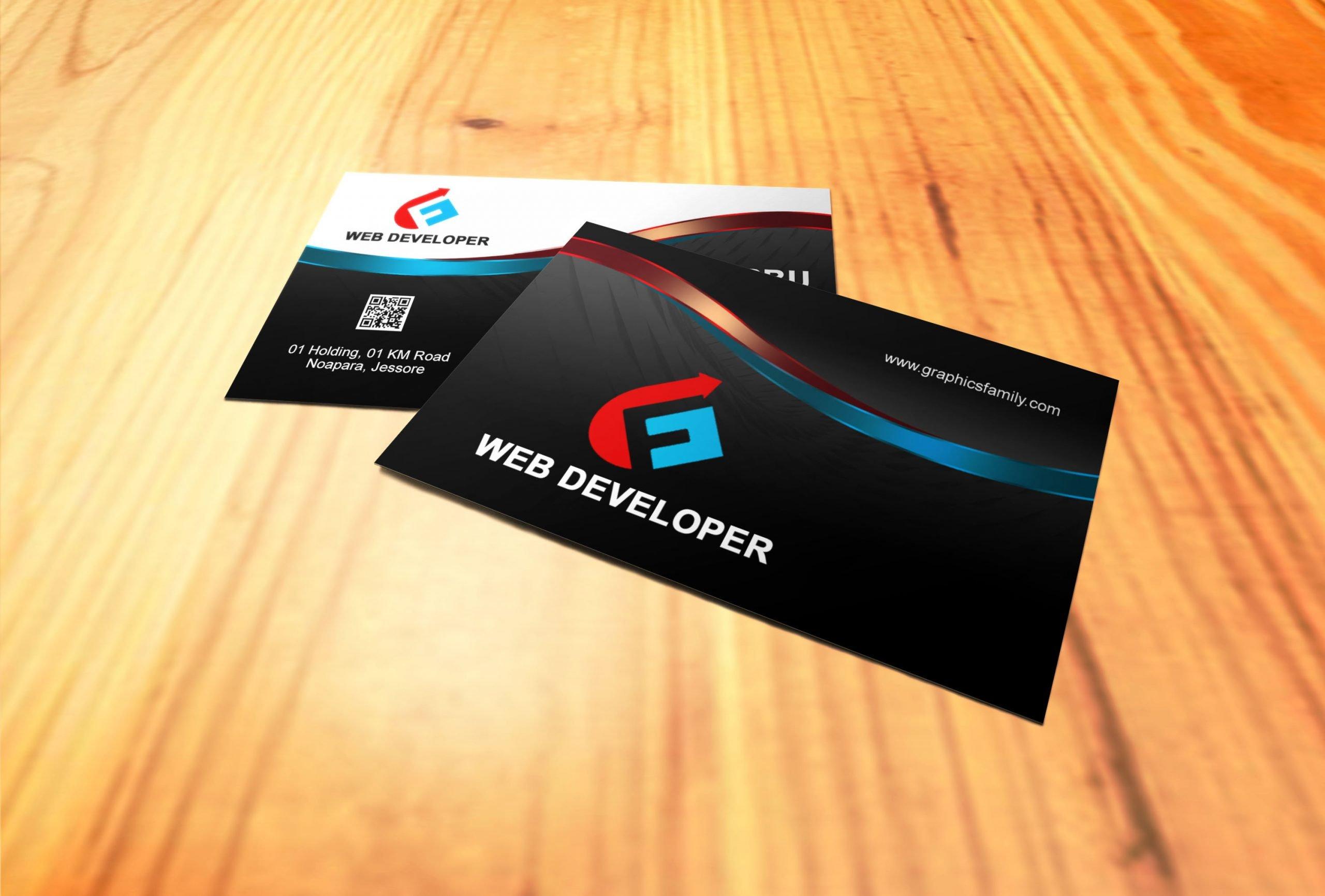Free Web Developer Business Card Design