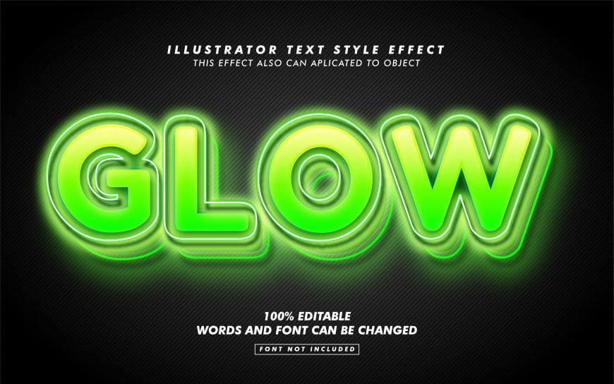 Green Glow Text Effect