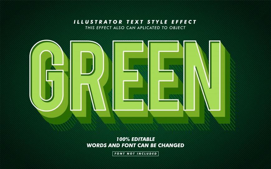 Green Retro Text Effect