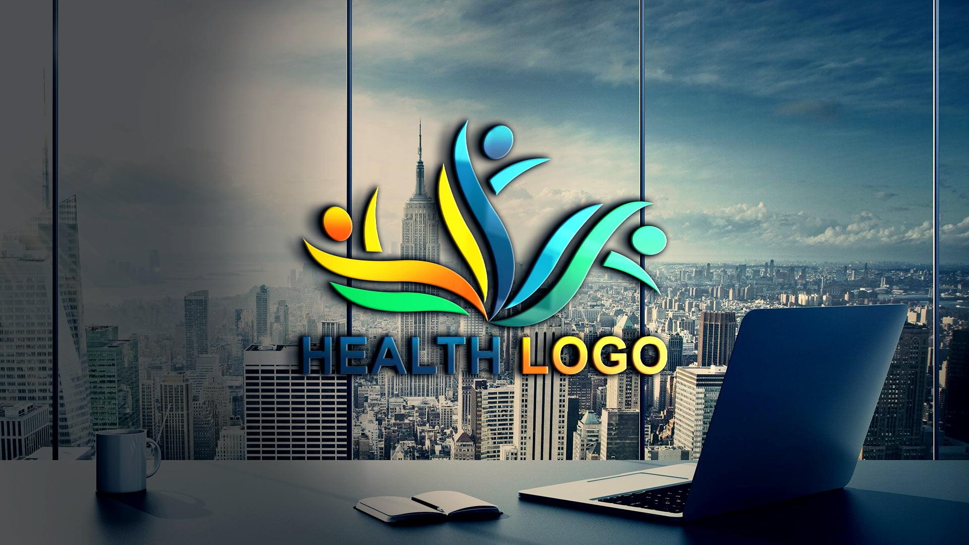 Health Logo Design PSD Source