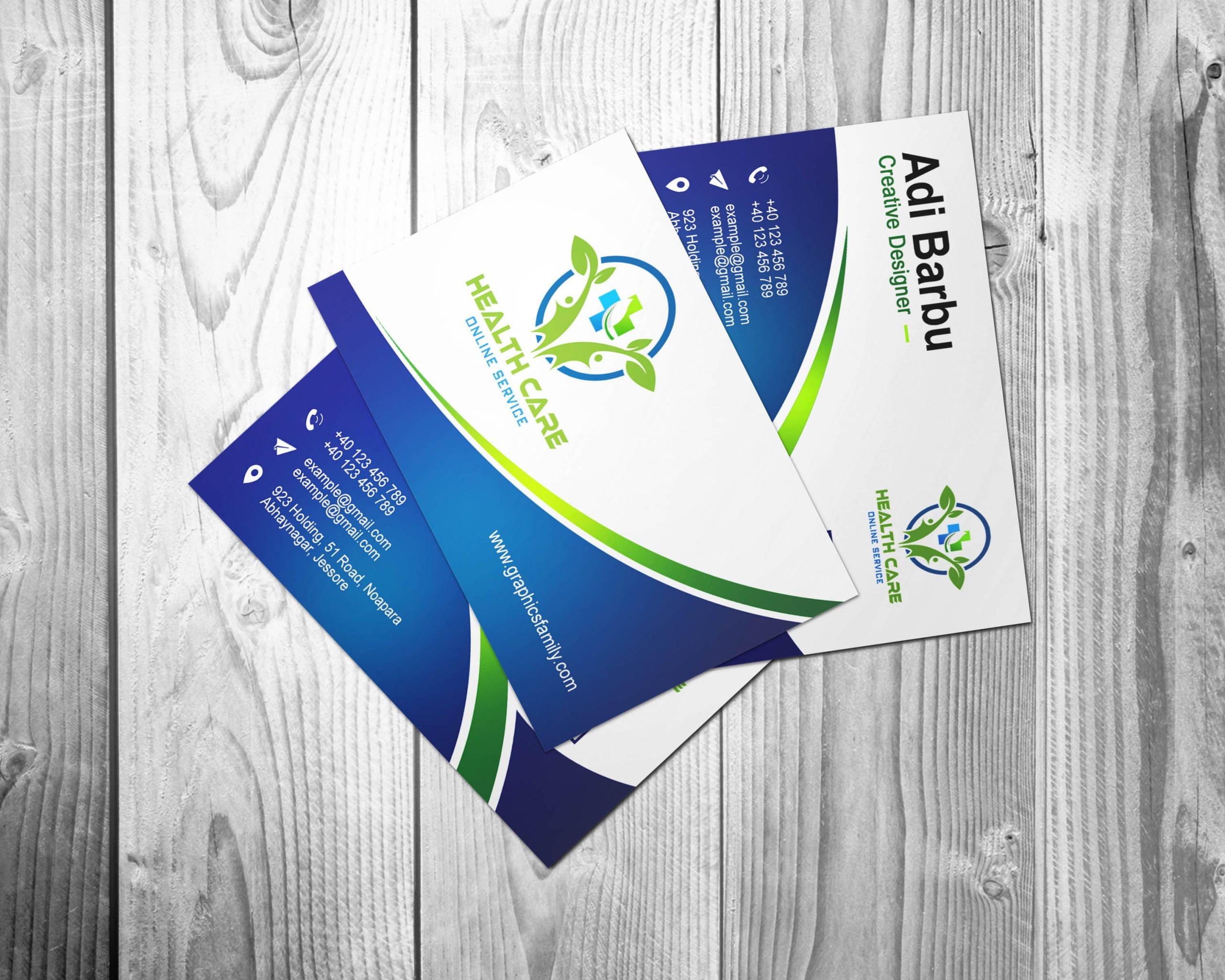 Healthcare Professional Business Card Design Template