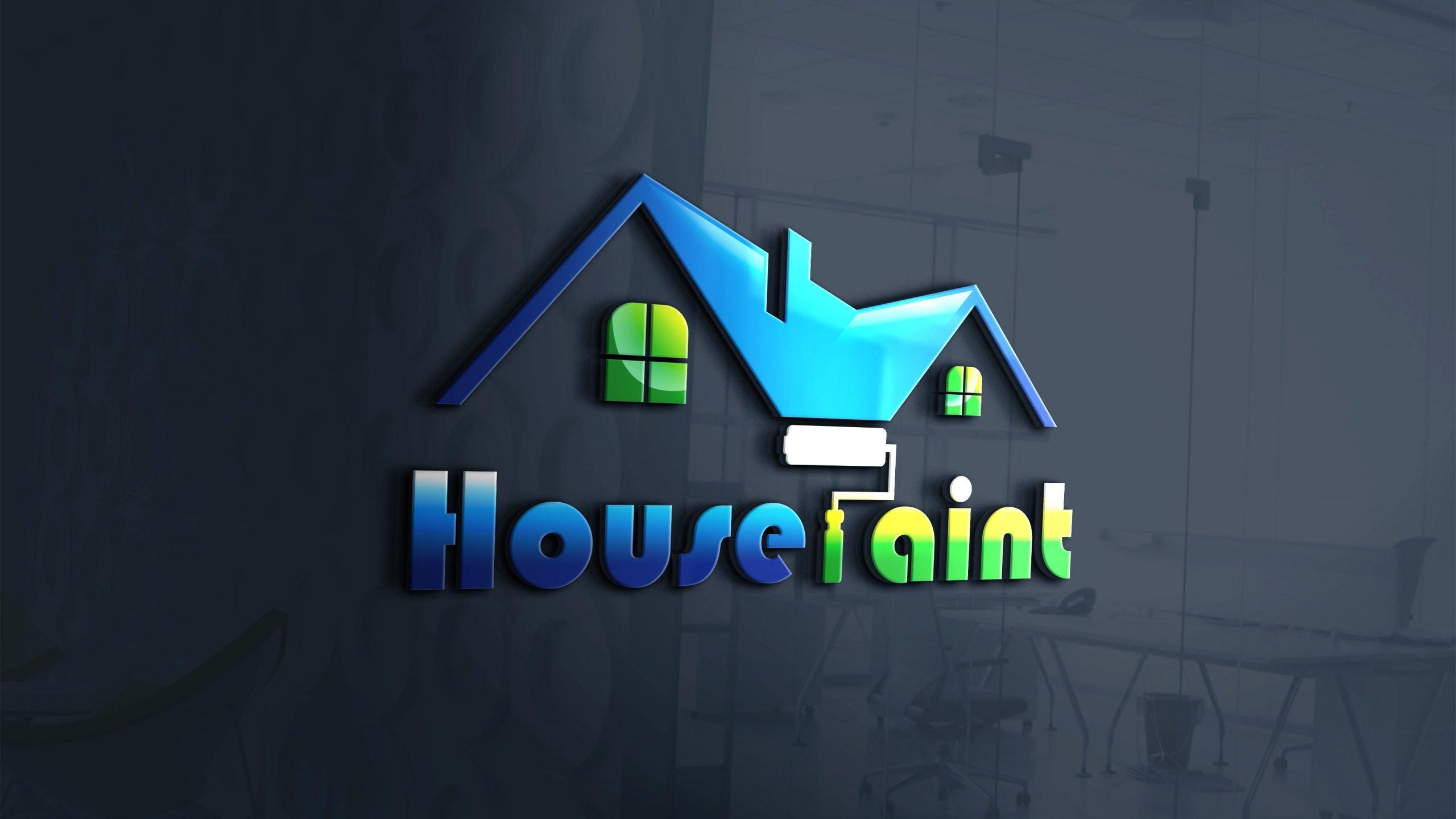 House Paint Logo Design