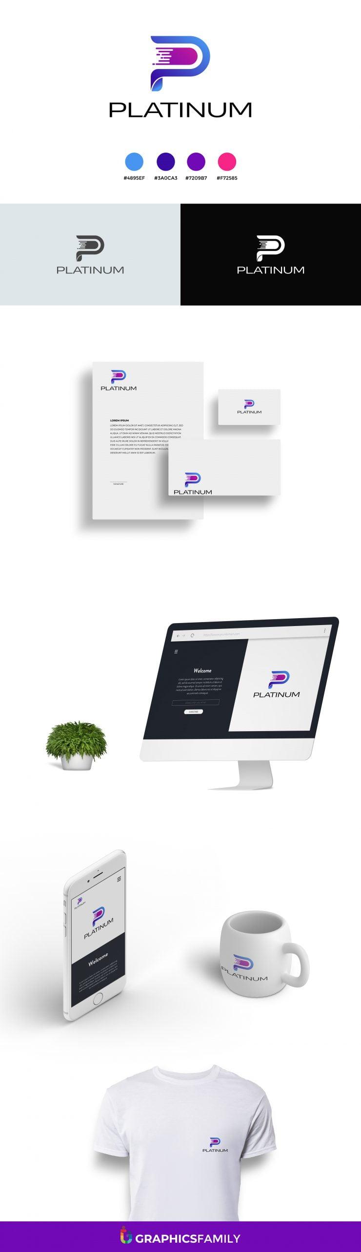 Letter P Logo Design Template Download
