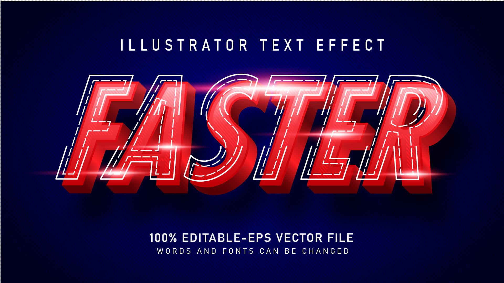 Modern Racing Text Effect
